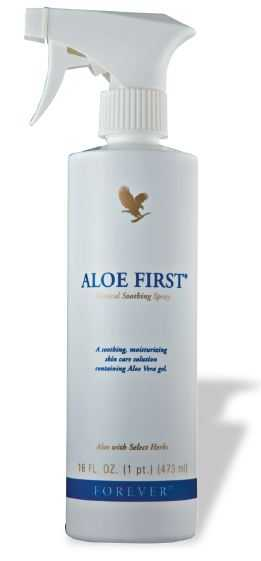 Forever Aloe First contine gel de aloe vera si propolis