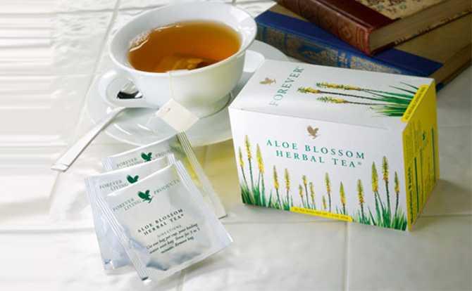 Ceaiul Forever Aloe Blossom Herbal Tea din aloe vera
