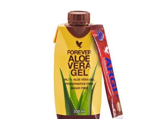 Mini Pack Aloe Vera Gel 330 ml + Forever Argi Plus