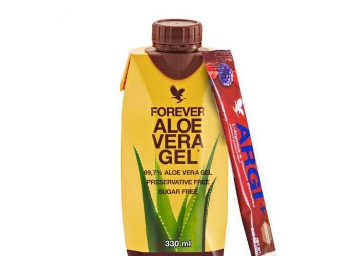 Mini Pack Aloe Vera Gel 330 ml + Forever Argi Plus